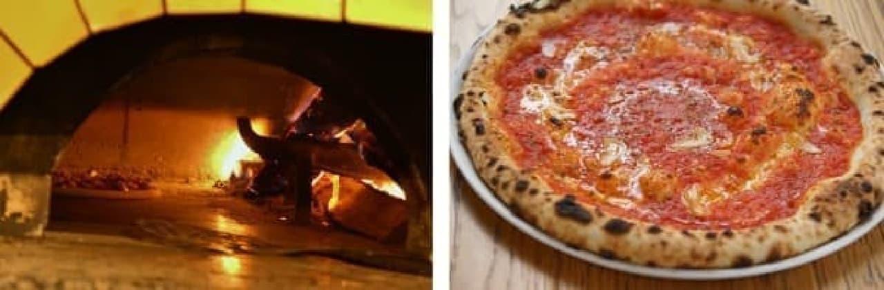 専用の石窯で焼き上げたピッツァは、パリッとモチモチ食感  (写真はイメージ)