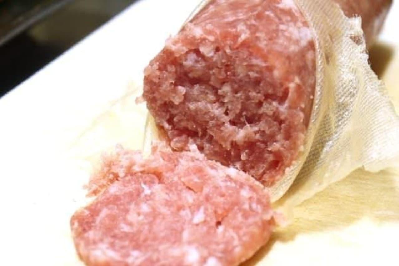 ミンチ肉を固めたみたい?