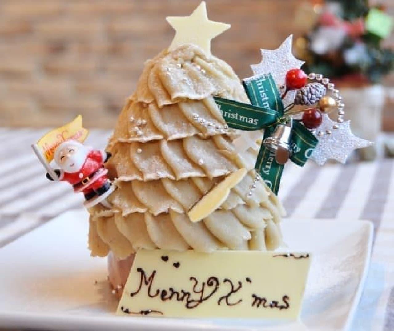 デコレーションが可愛い「モンブラン・クリスマスケーキ」