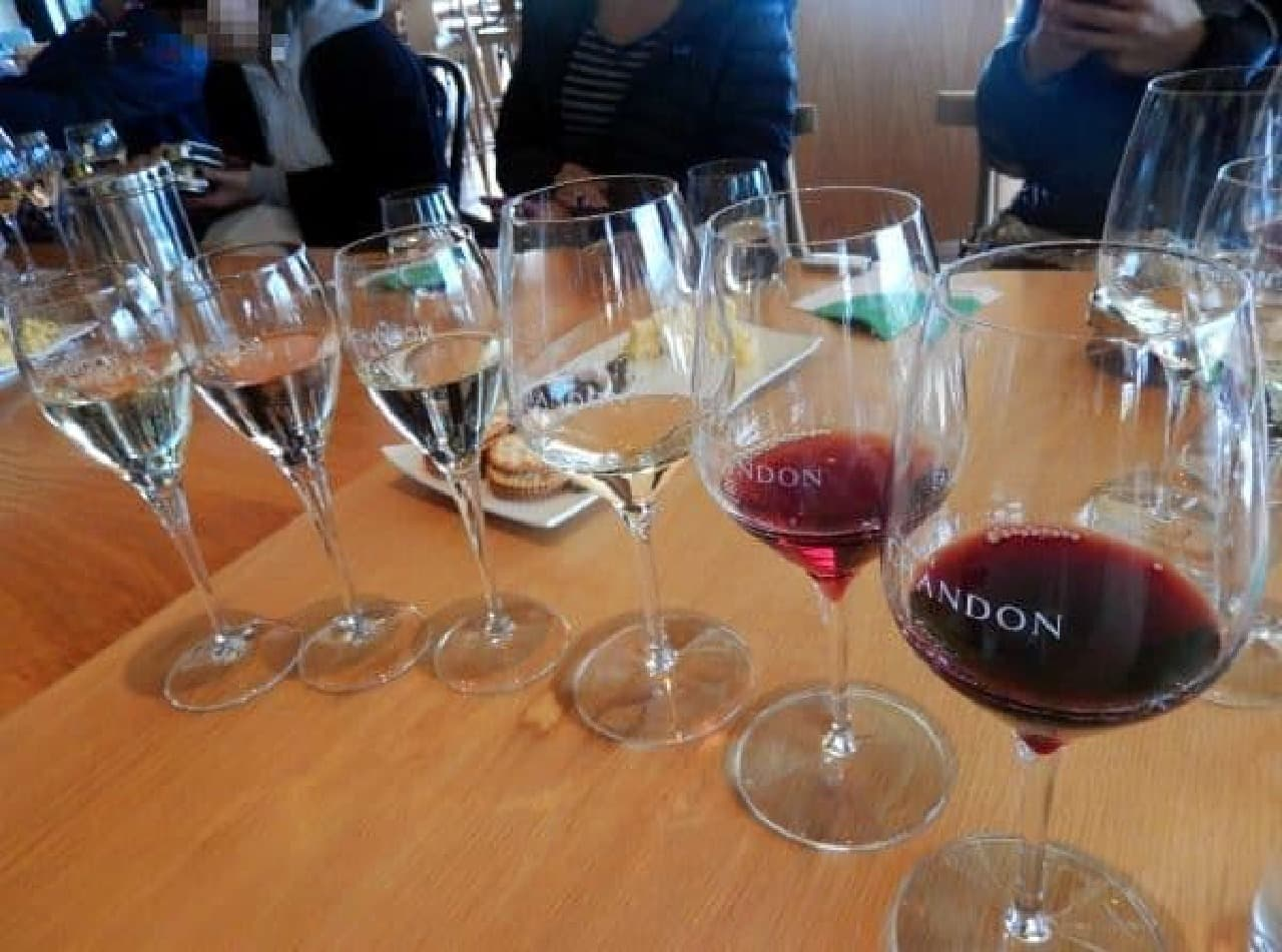 贅沢なワイン飲み比べ