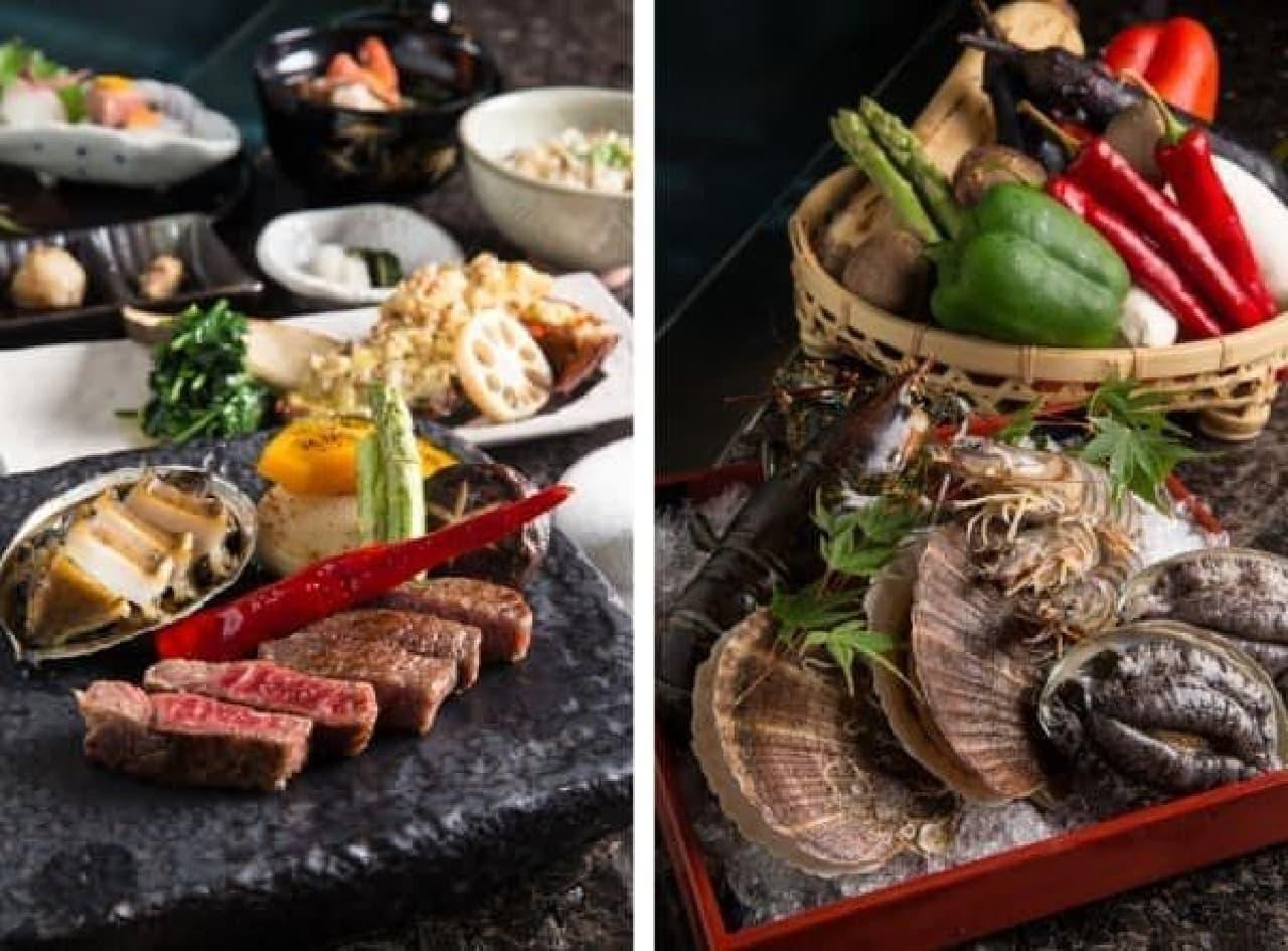 「九州のお肉」のほか、海の幸も豊富