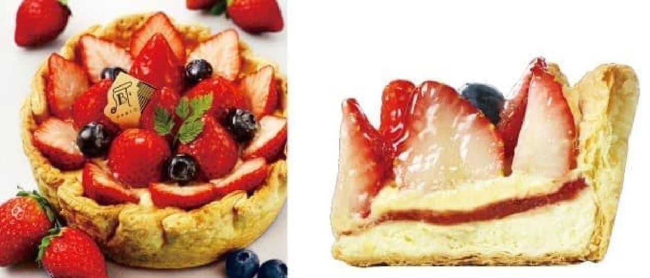 たっぷり苺とベリーのチーズタルト