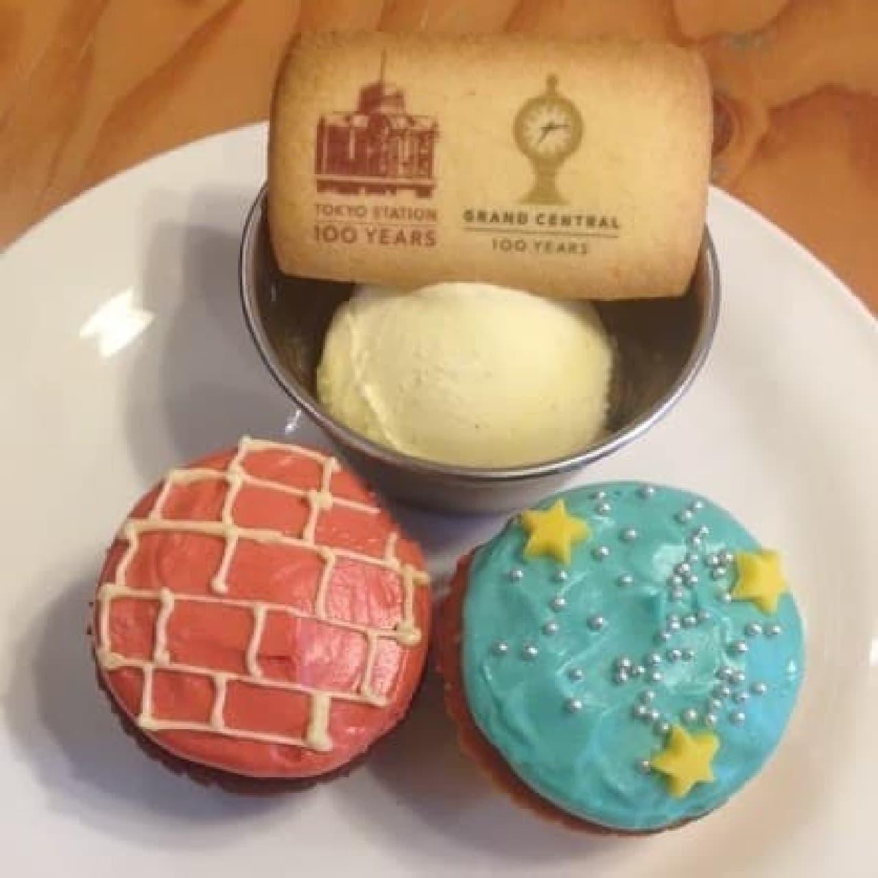 限定カップケーキがかわいい!東京駅100周年記念カフェ