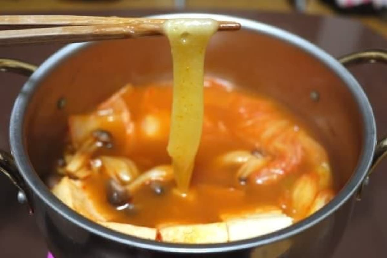 キムチ鍋が2位!