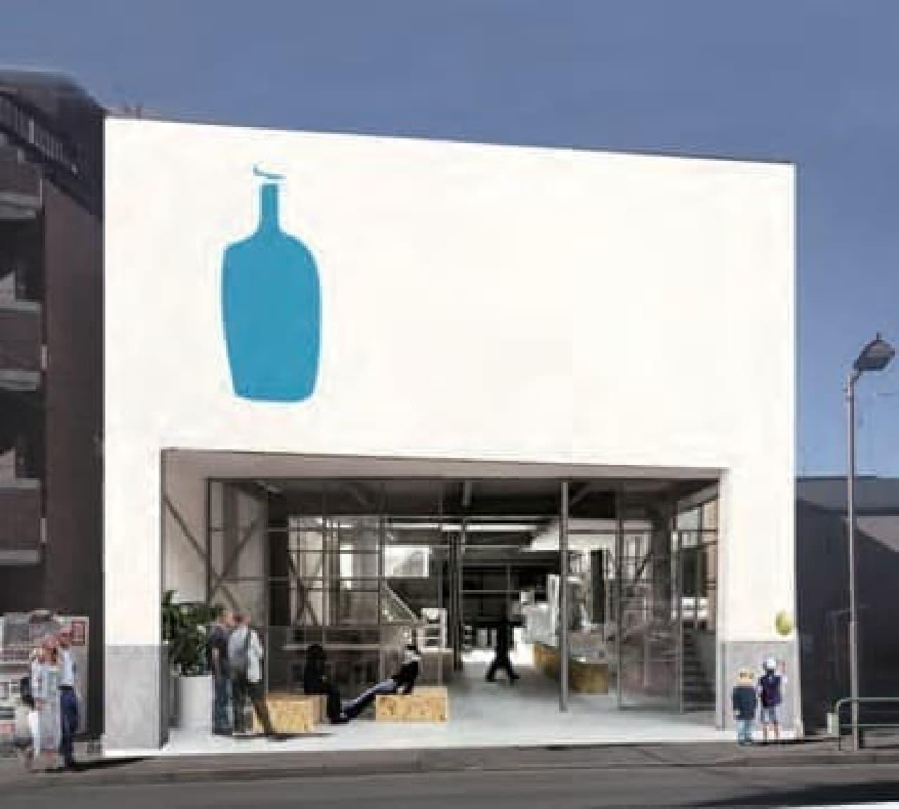 青いボトルのシルエットがトレードマーク