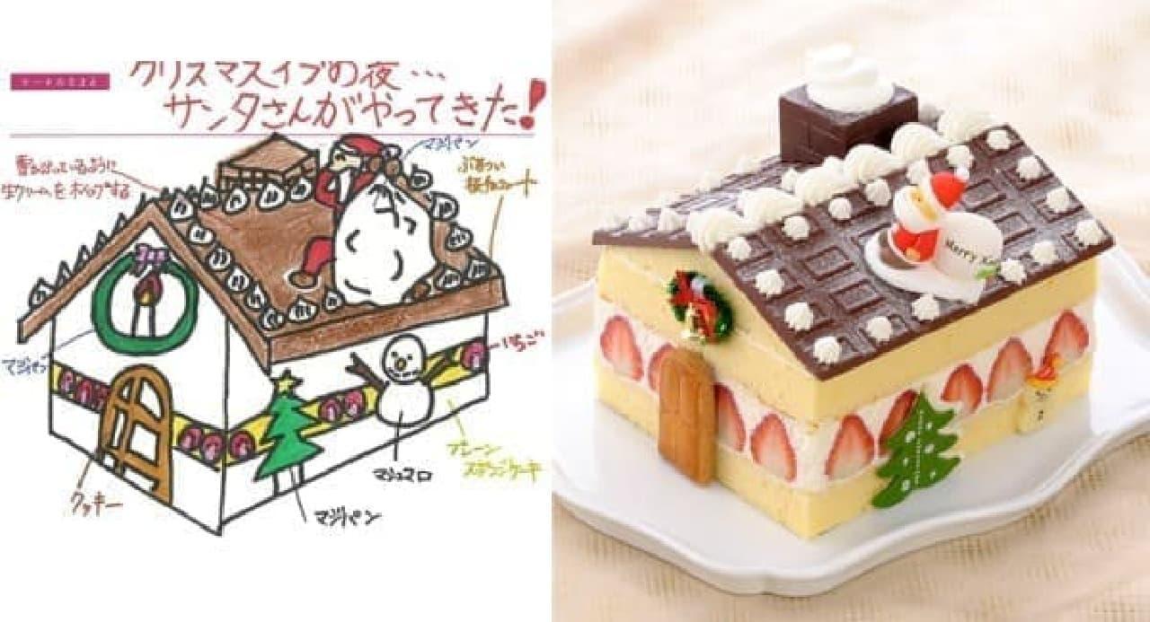 写真左が晃太郎くんのデザインしたケーキ  (出典:銀座コージーコーナー公式サイト)