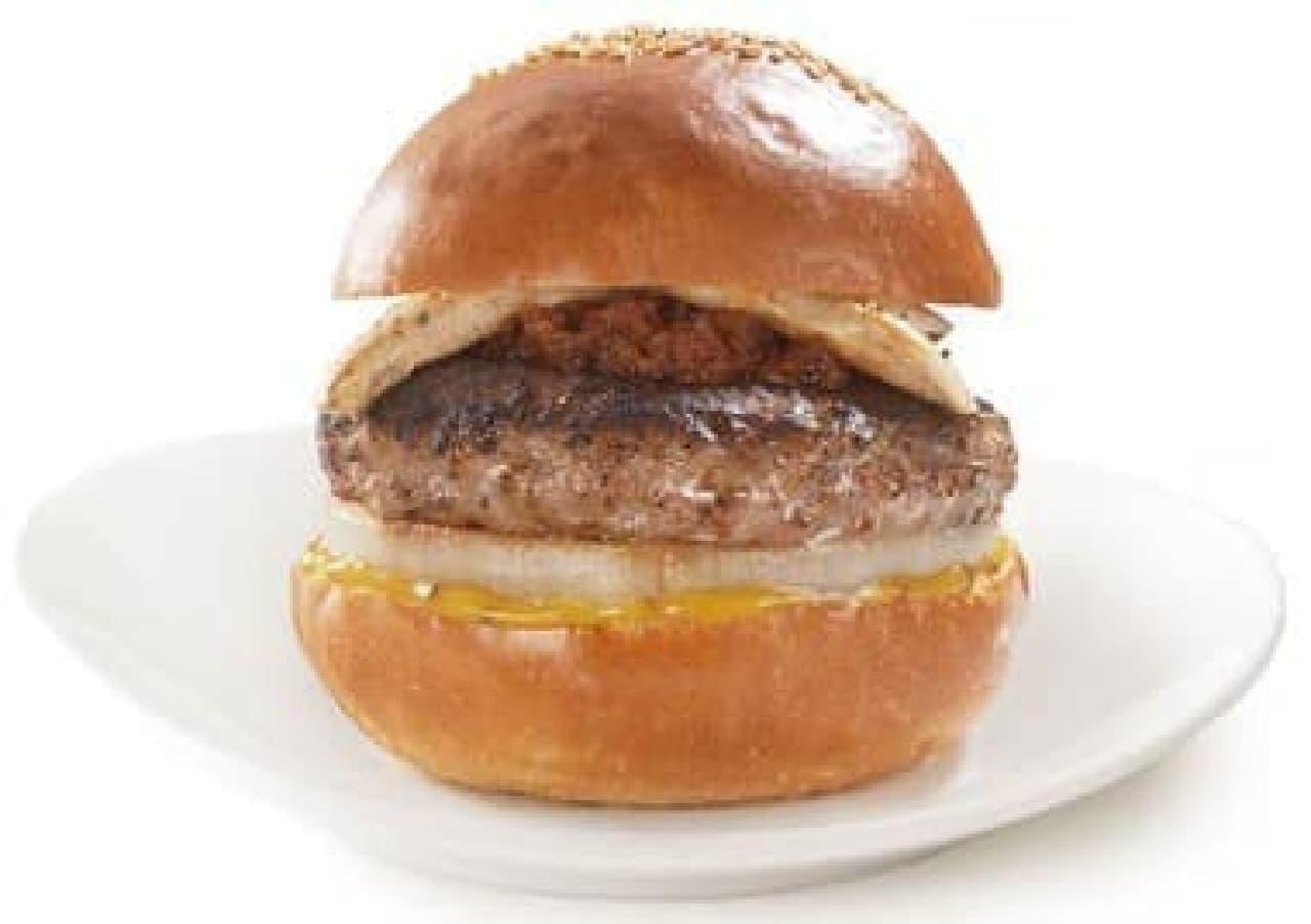 長野県産鹿肉を使った「信州ジビエ 鹿肉バーガー」
