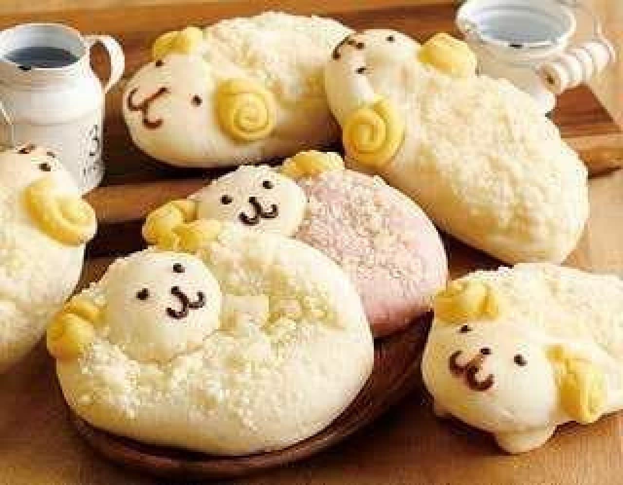 年始限定!ドンクにもこもこひつじの「干支パン」  (画像:北海道エリアの商品)