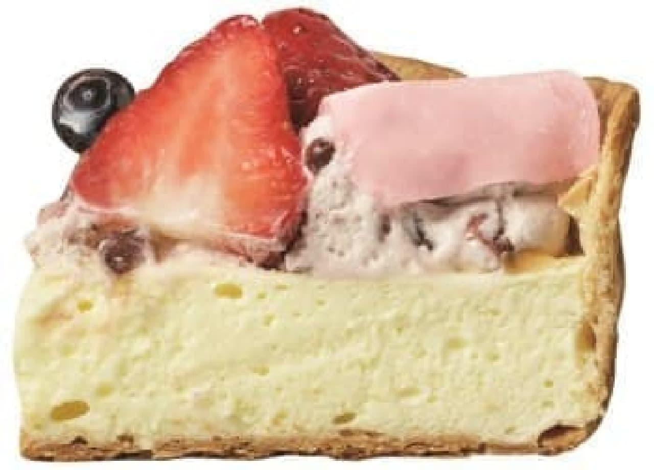 粒あんクリームをふわふわ求肥が包み込む
