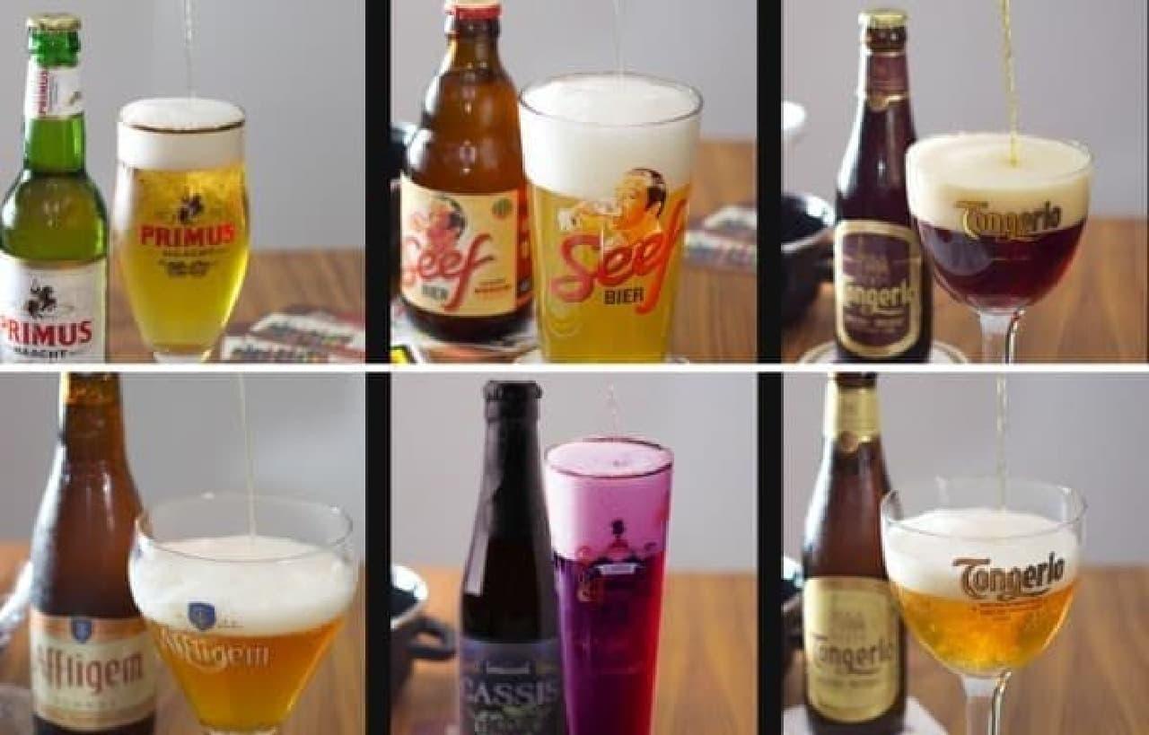 ベルギービール各種もラインナップ!  (出典:ポムケ公式ホームページ)