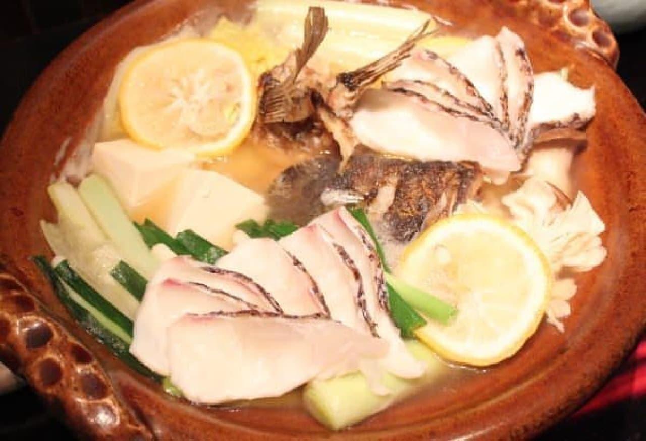 「柚子鯛鍋」 このお風呂につかりたい…