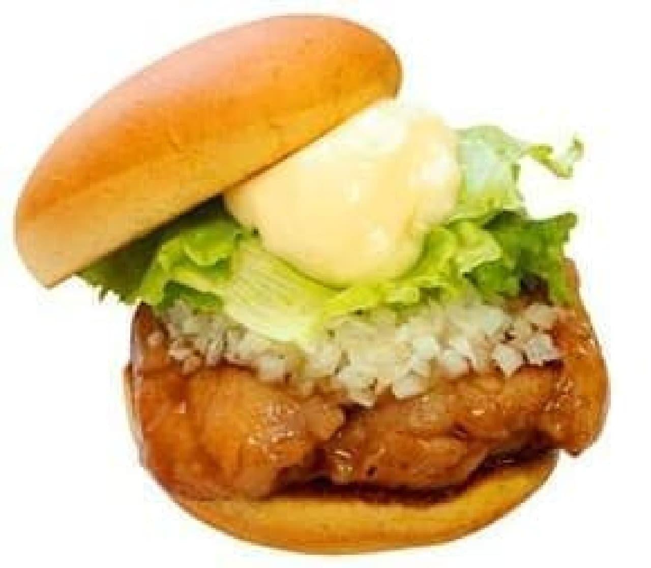 チキン15%増量!  食べごたえもアップした「テリヤキチキンバーガー」