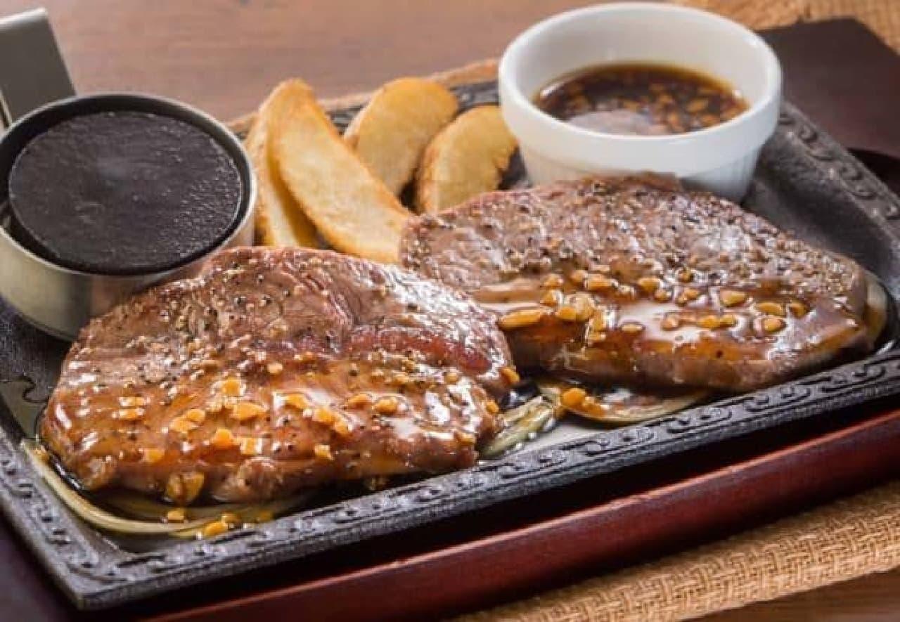 希少な赤身肉を味わう「ミスジステーキ」