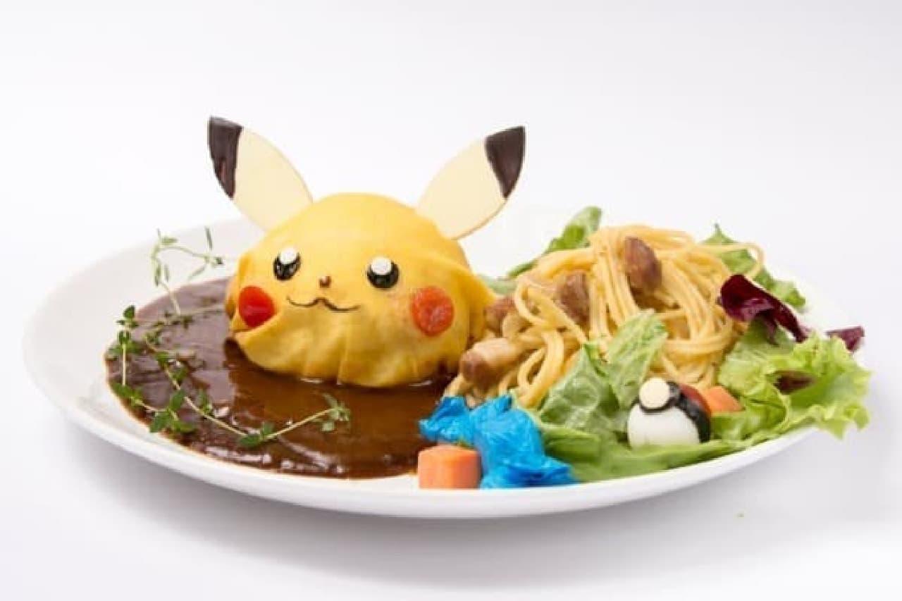 大人気の「ポケモンカフェ」、3月まで期間延長!  (画像:ピカチュウも大好きハンバーグ!)