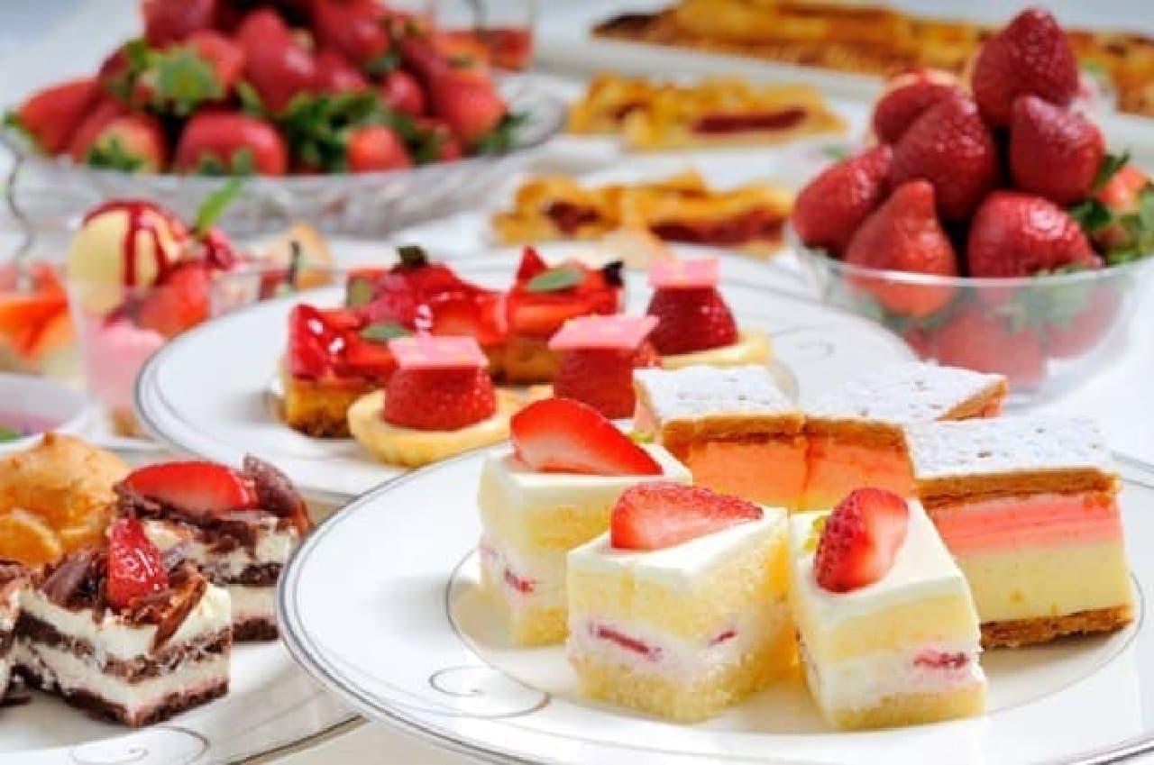 イチゴたっぷり食べ放題!横浜ベイシェラトンで「ストロベリーフェア」