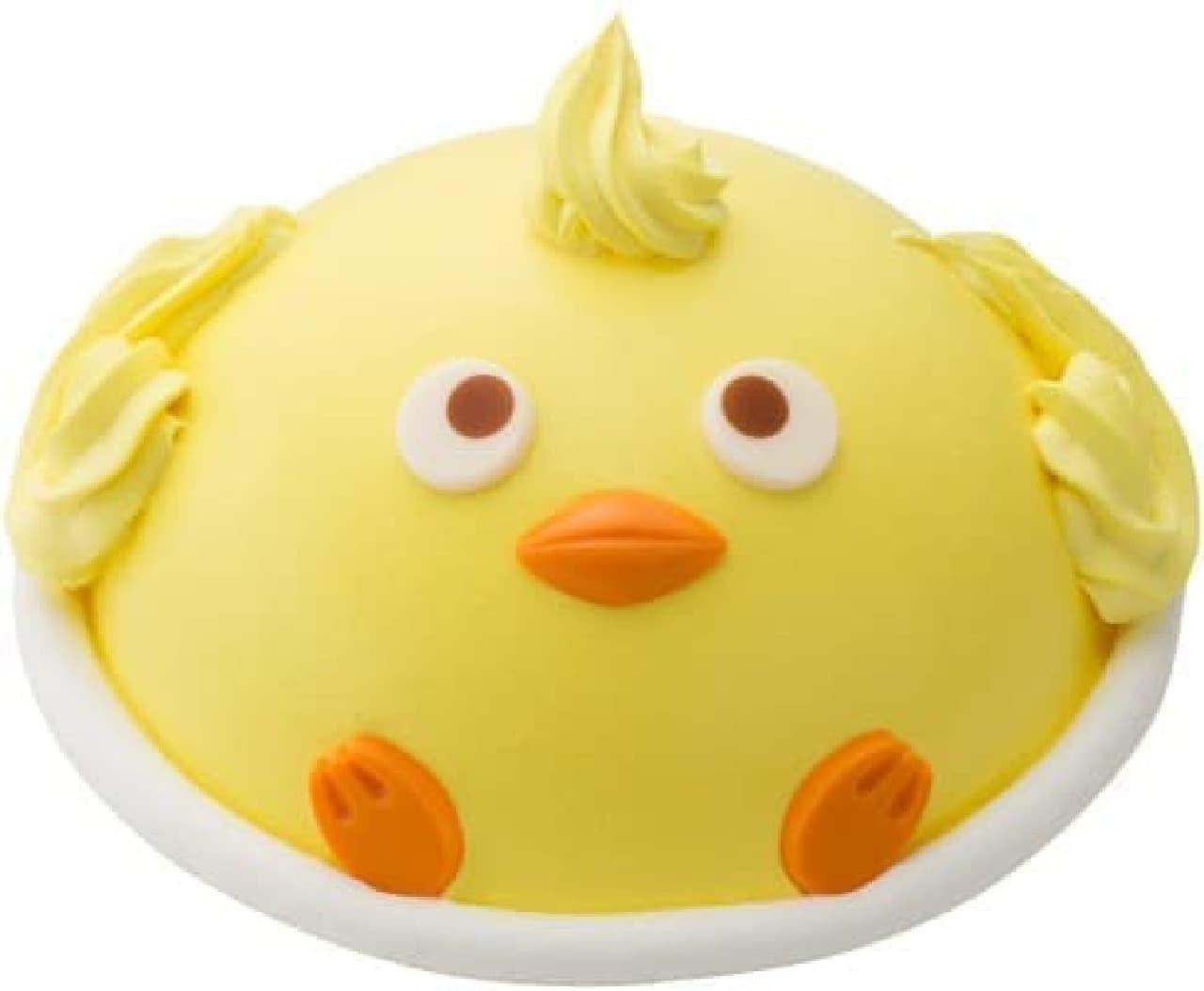 とぼけた表情がキュートなアイスケーキ「ひよっぴー」
