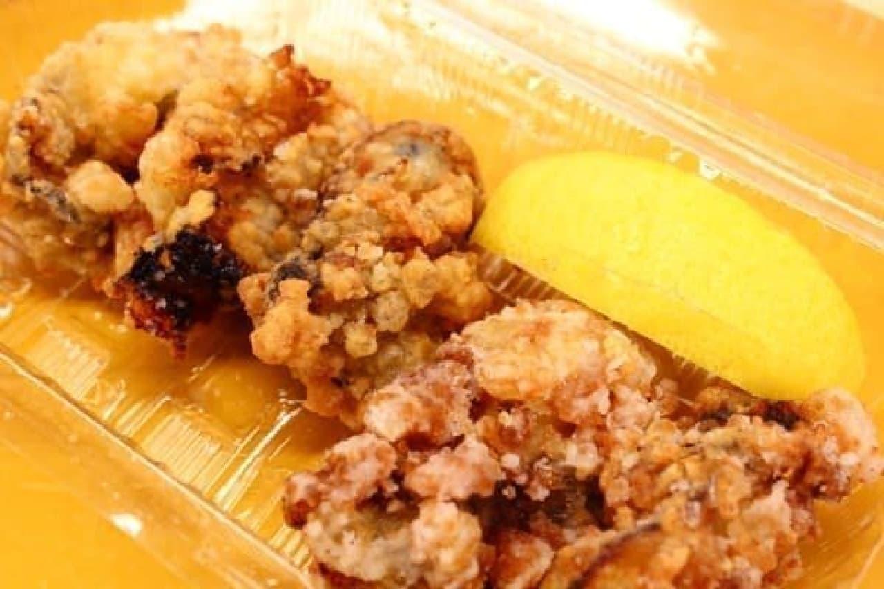 西京味噌風味のカキの唐揚げは、今年の新メニュー