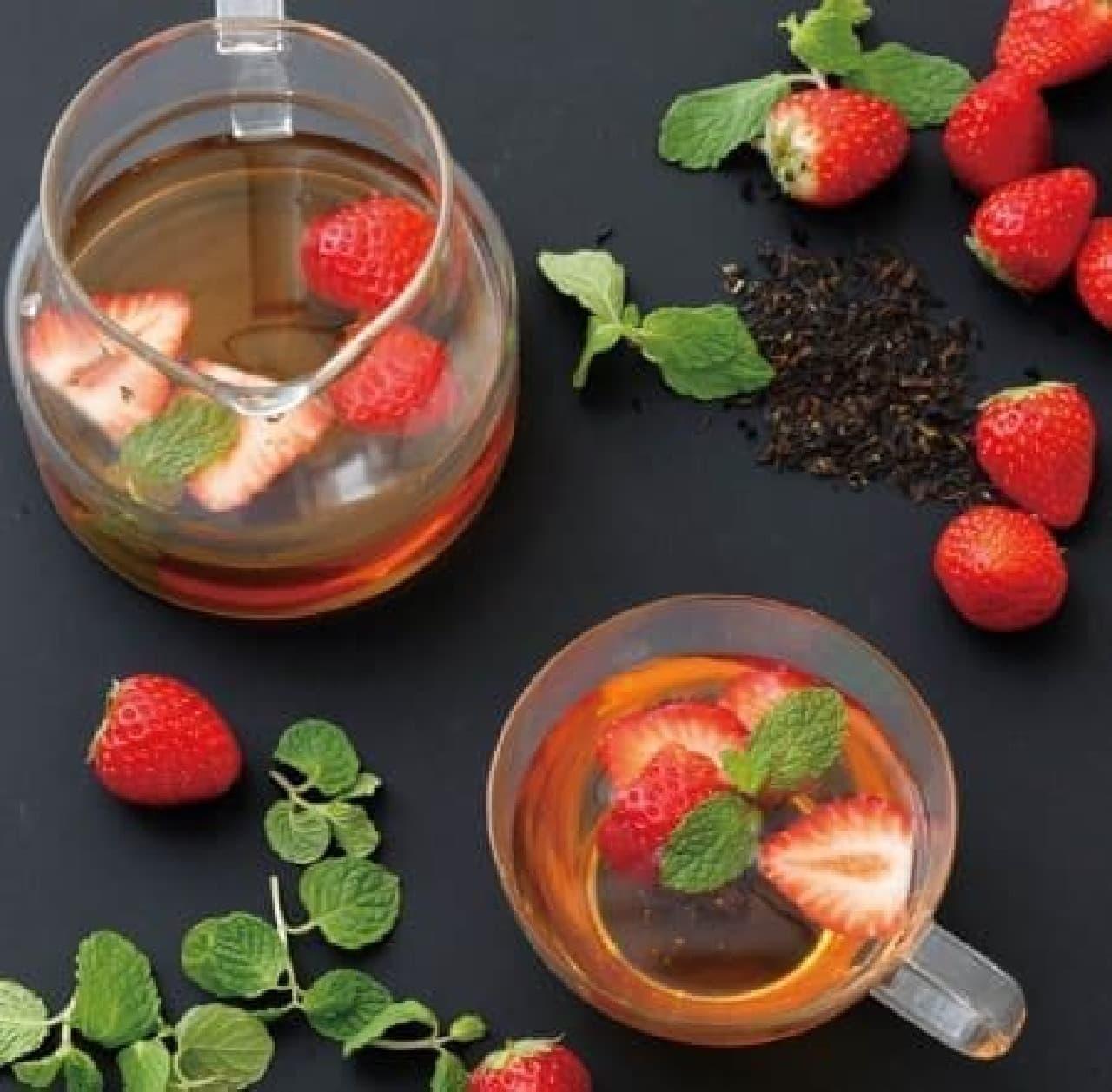 甘酸っぱい苺と爽やかなダージリンの香りが広がる