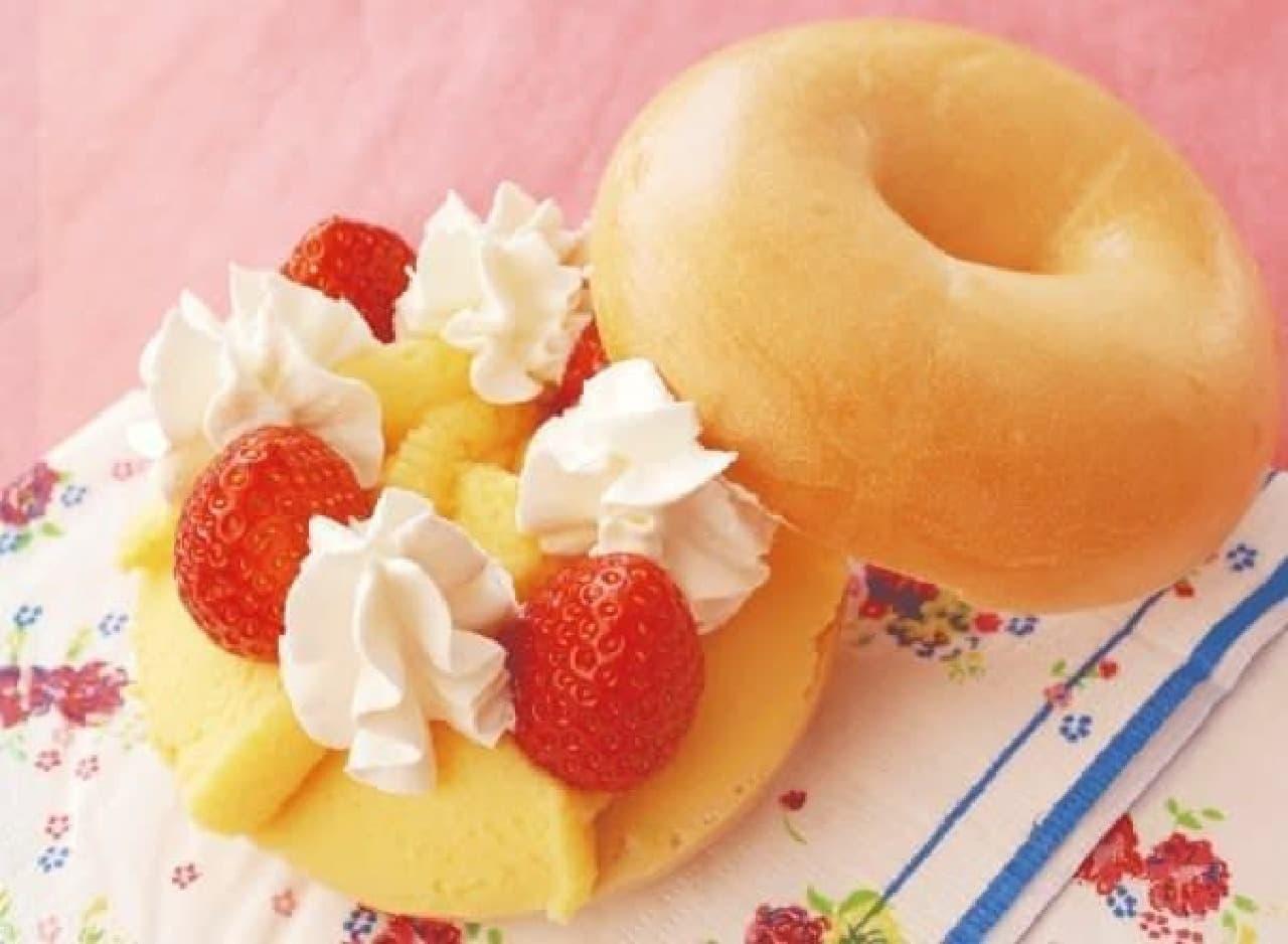 写真は「生苺のショートケーキ サンド」