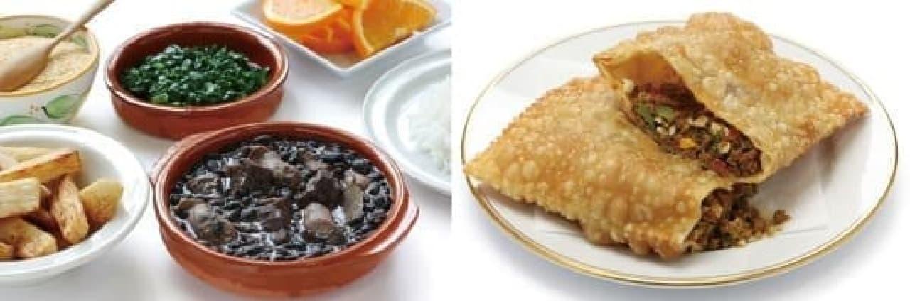数々のブラジル料理がラインナップ