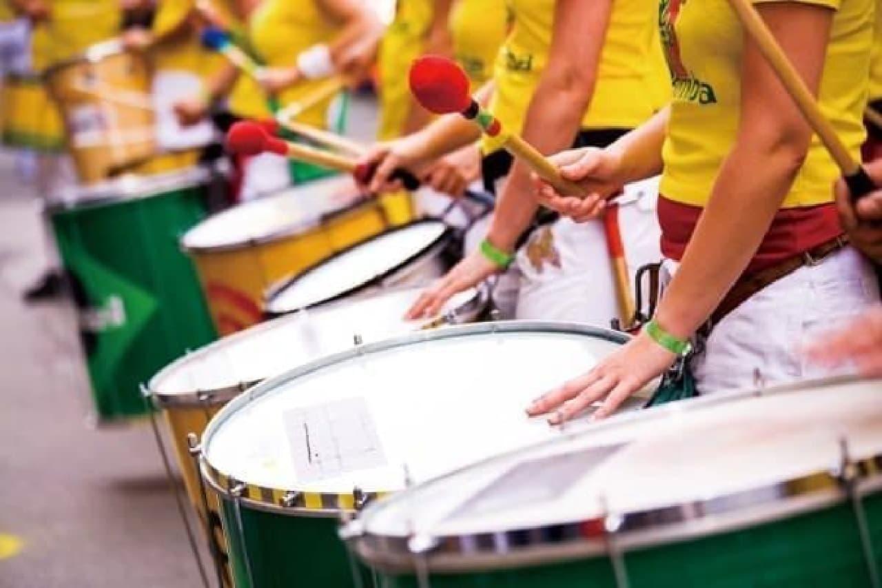 ブラジルの音楽も体感できる