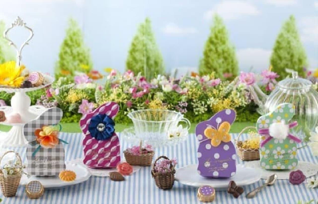 「ピクニック」をイメージしたパッケージやチョコレート