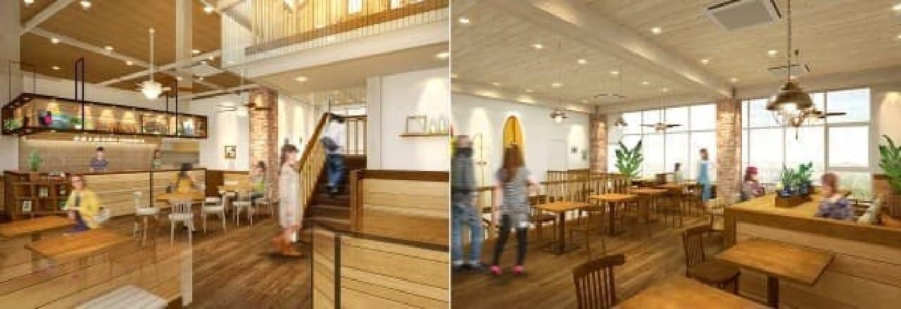 店内イメージ(左が1階、右が2階)