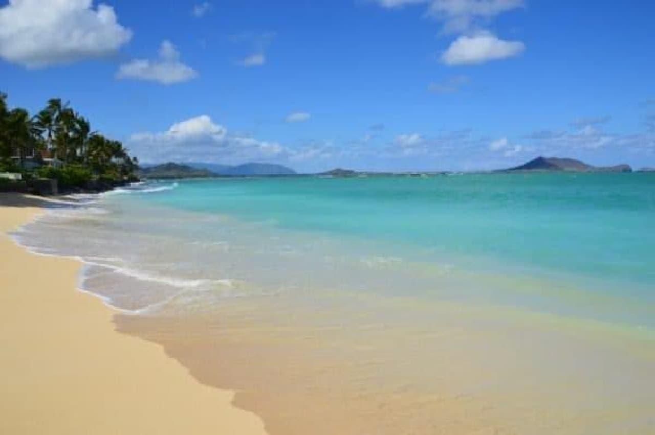 ハワイ・オアフ島のラニカイ・ビーチ