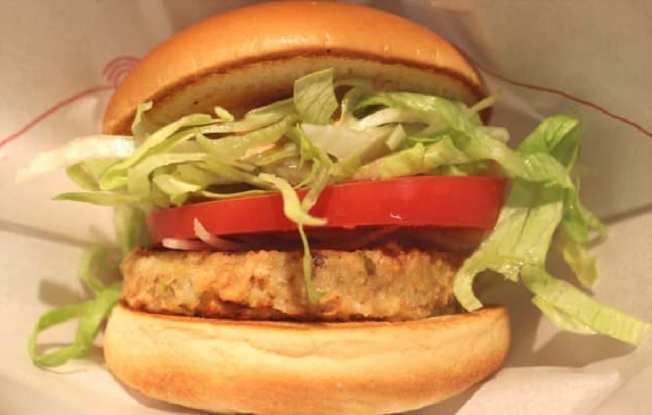 「ソイ野菜バーガー」オーロラソース