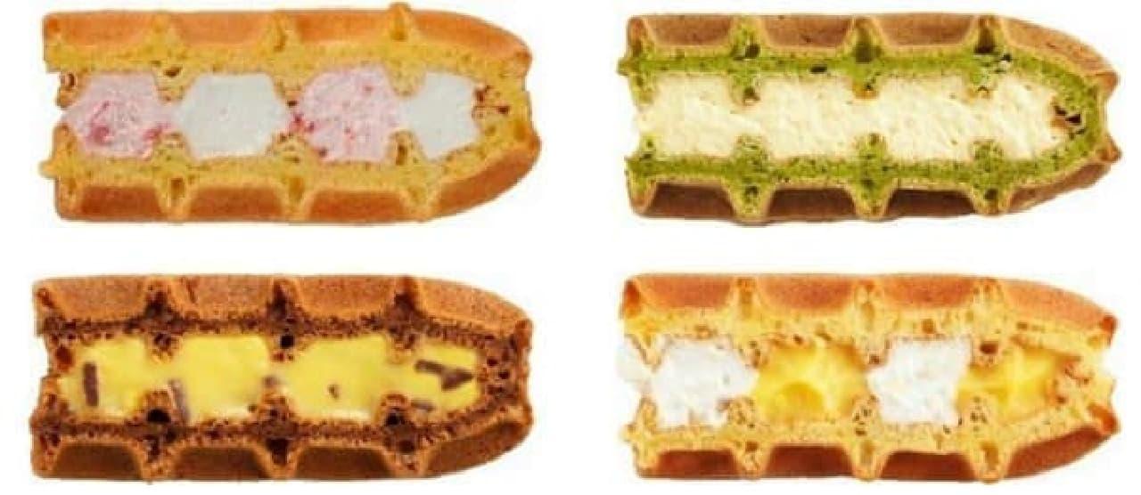 5月限定ワッフルケーキは全部で5種類