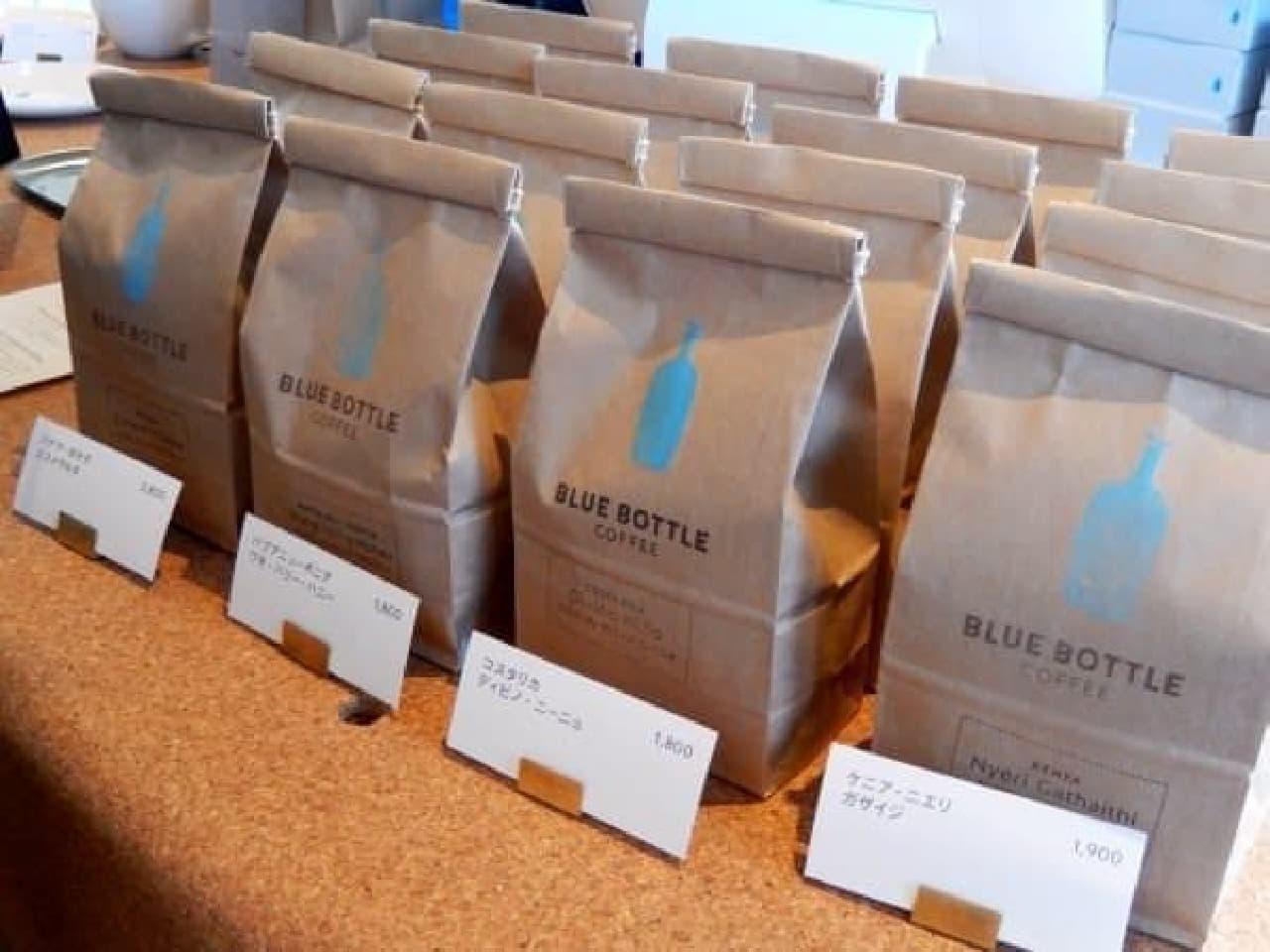 お店で使われているコーヒー豆も買えます