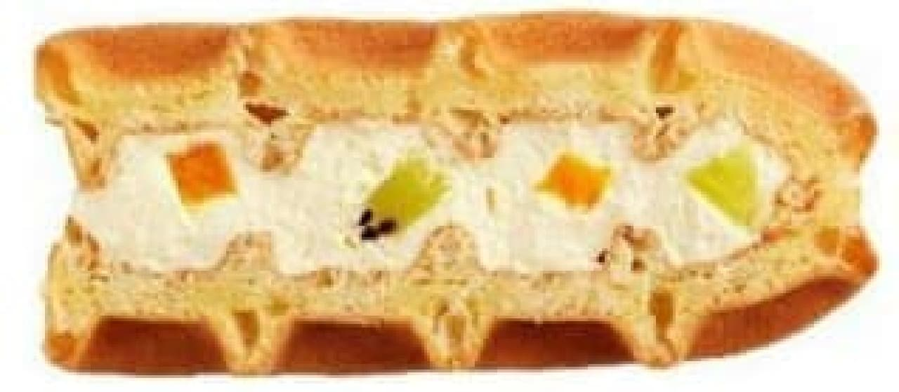 ワッフルケーキ フルーツミックス
