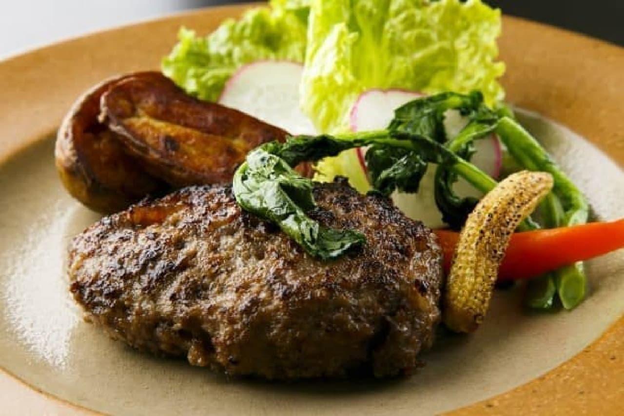 ランチ「熟成牛100%の自家製ハンバーグ」 1,500円