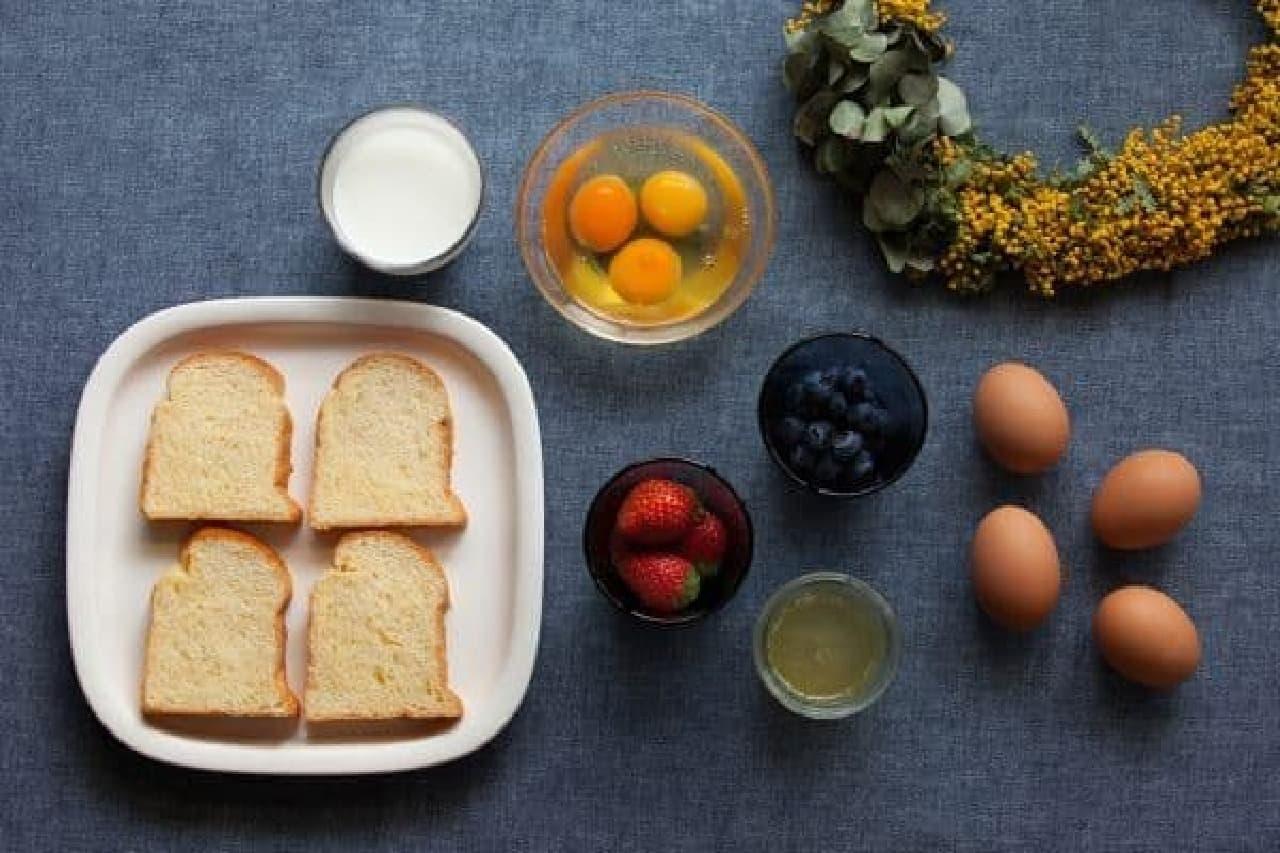 厳選素材を集めてつくるフレンチトーストは必食?