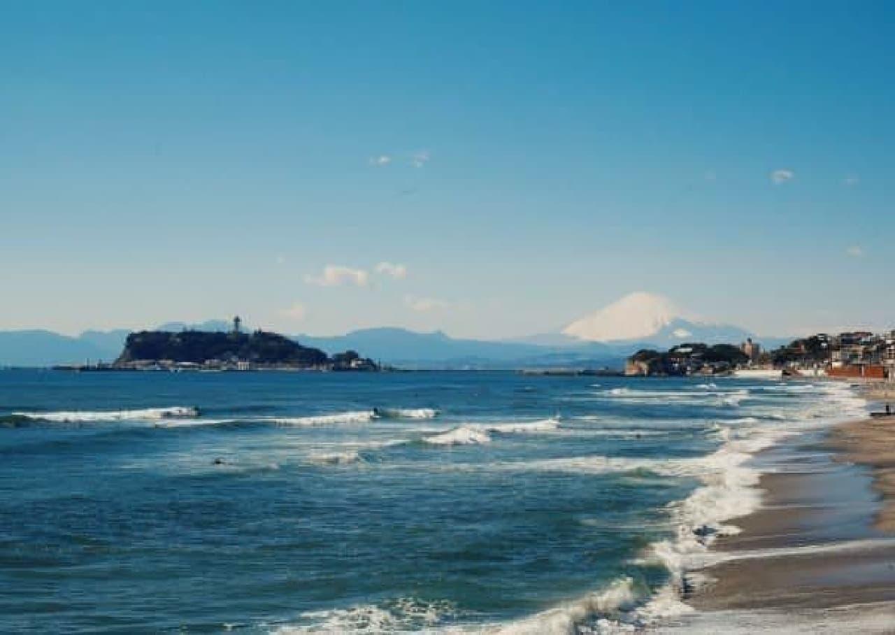 江の島と富士山を一望