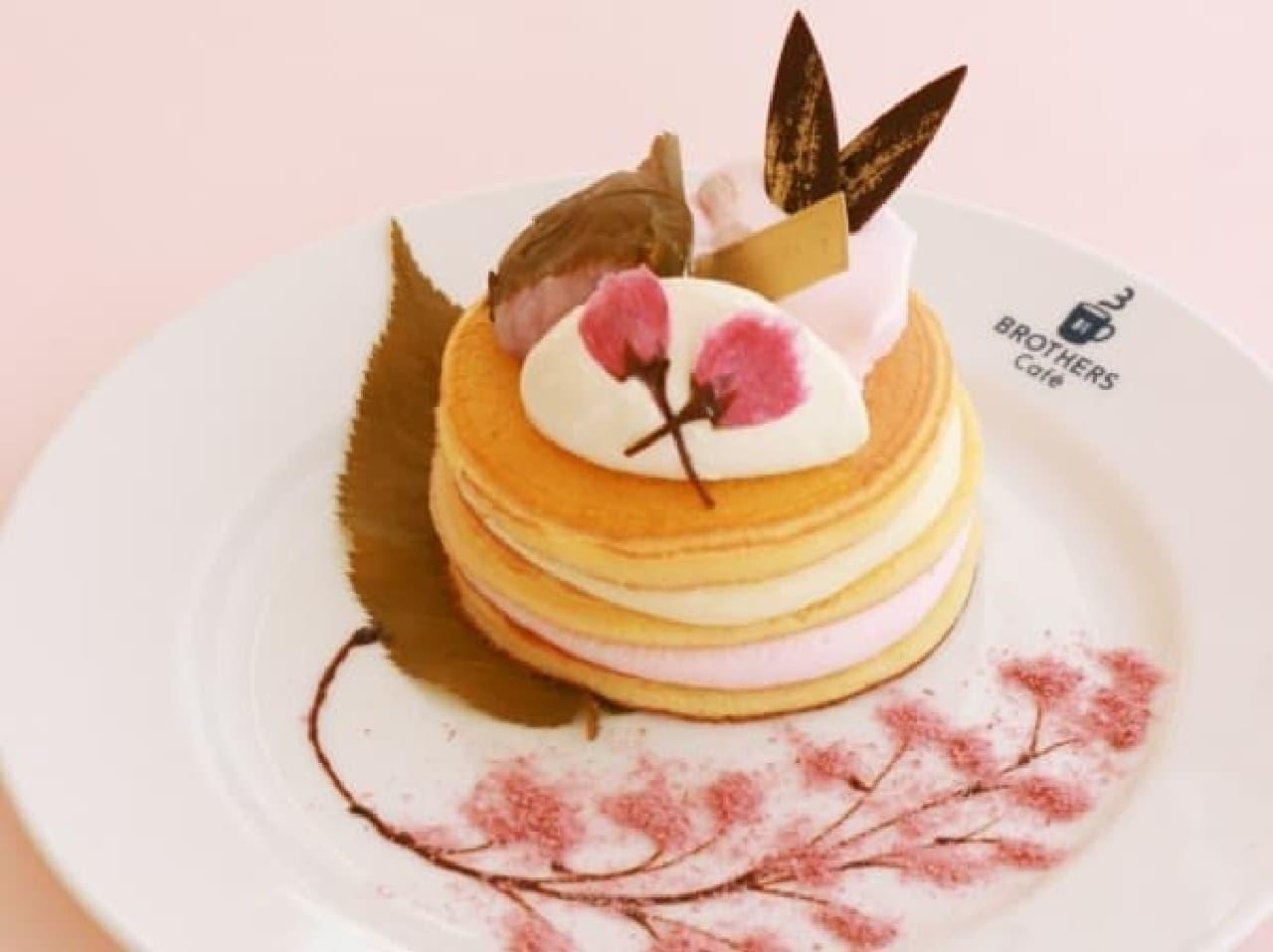 春満開!サクラが香る新作パンケーキ