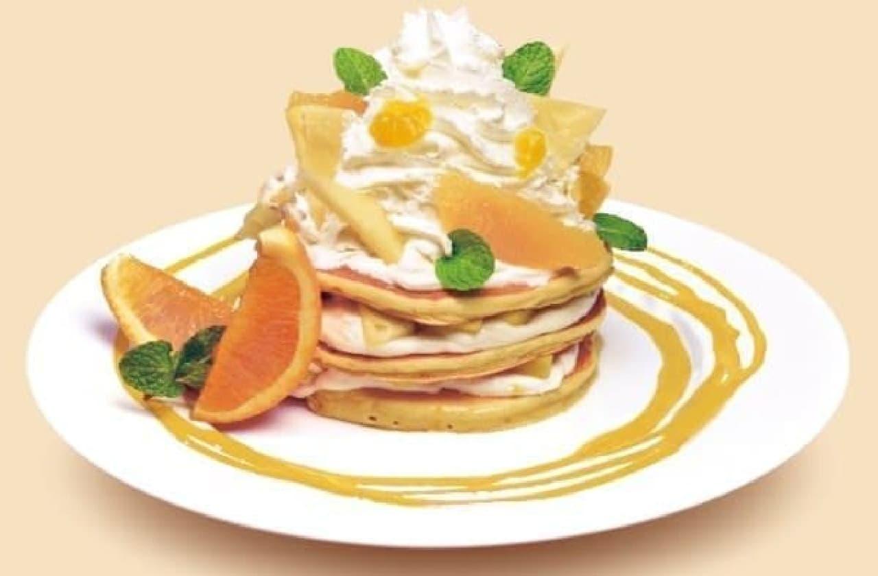 ボルケーノパンケーキ マンゴ&オレンジ