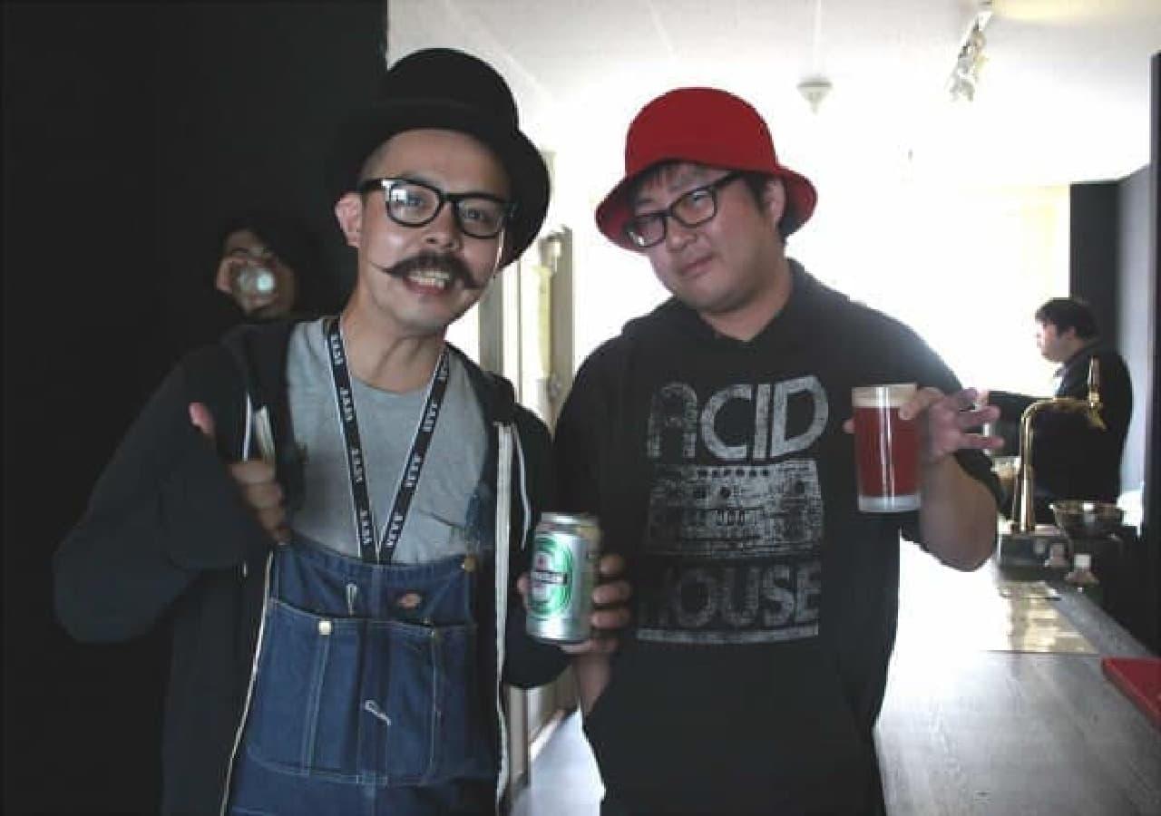 左:タイチさん 右:KAZUHIRO ABO さん