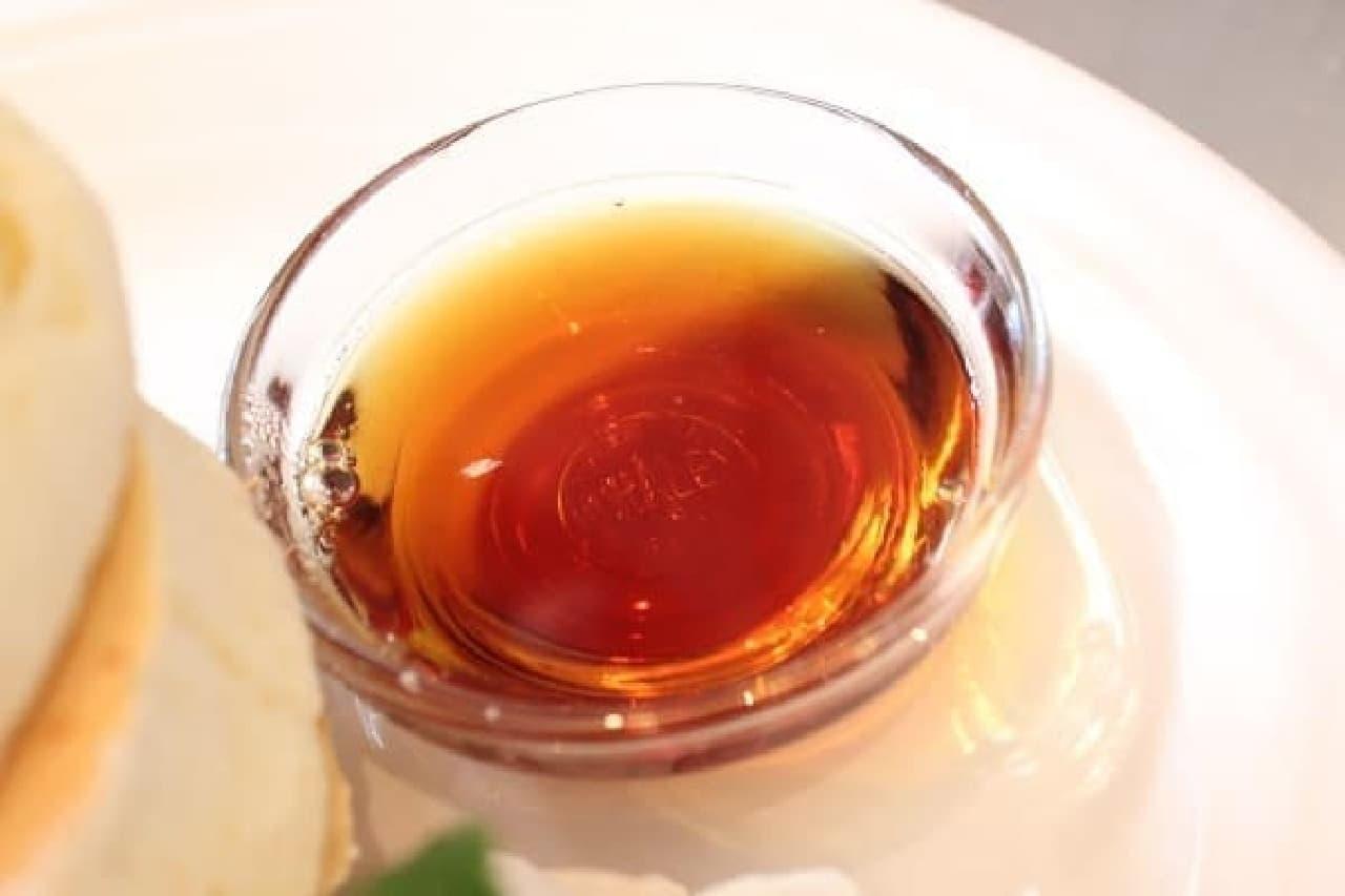 これがメープル。ハチミツも選べます
