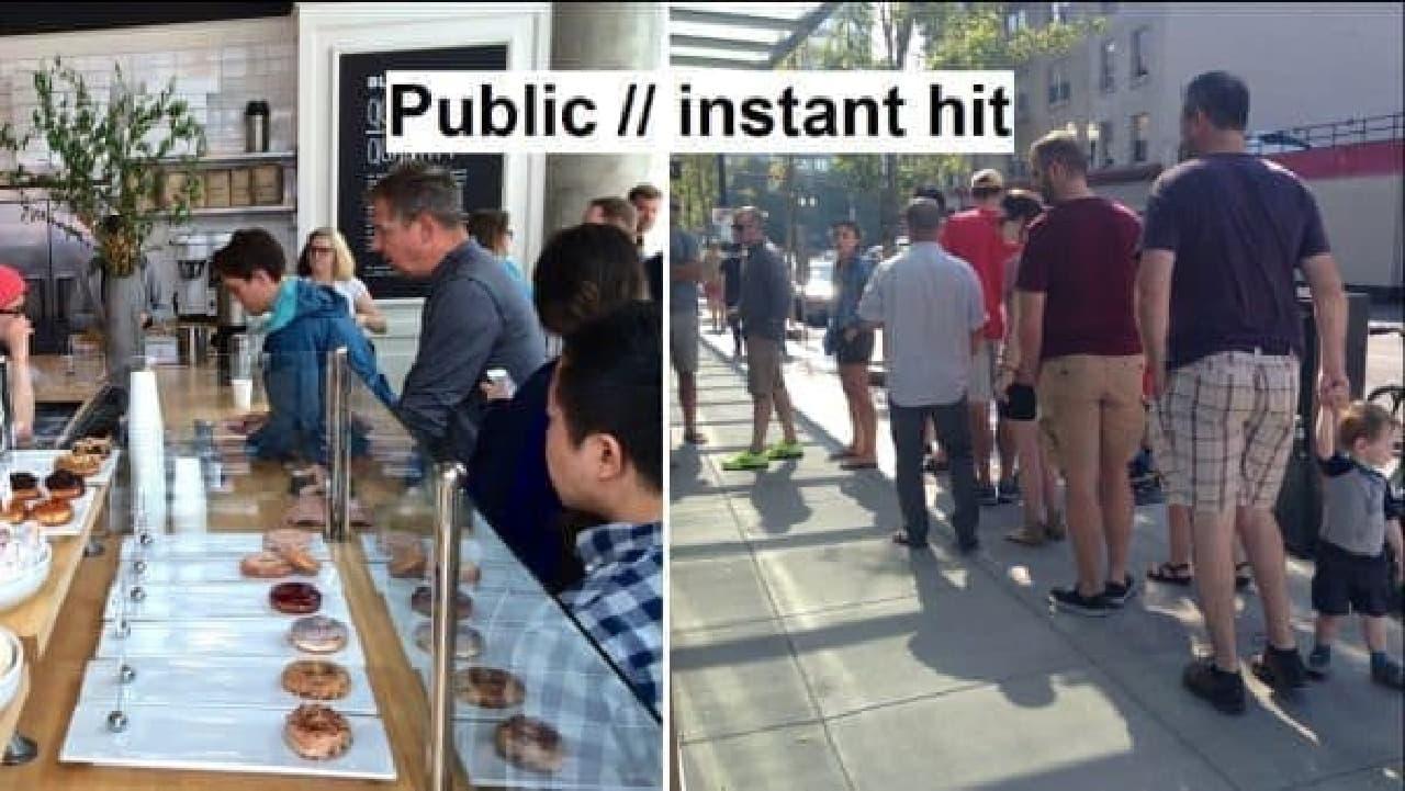 本国アメリカでは、行列ができる人気店だそう