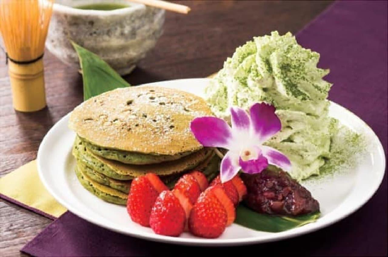 1周年記念は京都らしい抹茶のパンケーキ!