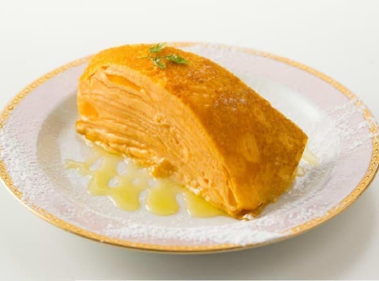 つぶつぶマンゴー入り「マンゴーミルクレープ」