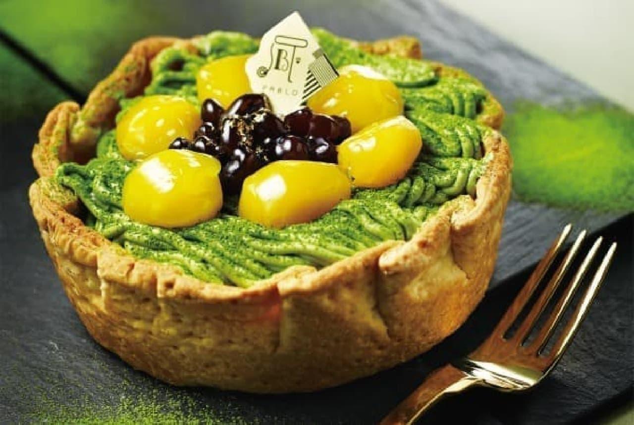 新緑の季節にぴったり!5月限定「抹茶と栗の和チーズタルト」