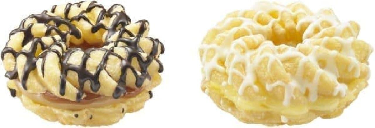 ダブル キャラメル(左)とレモン チーズ(右)