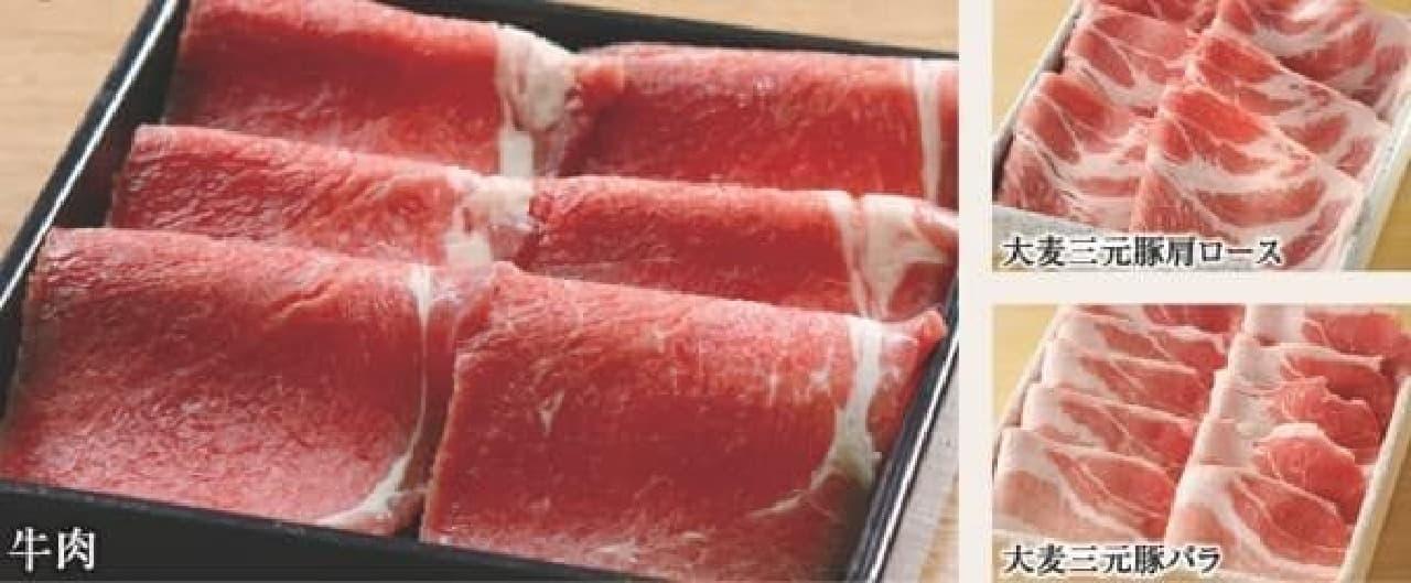 たとえば…牛も豚も味わえる食べ放題コース(ランチ1,480円~)も