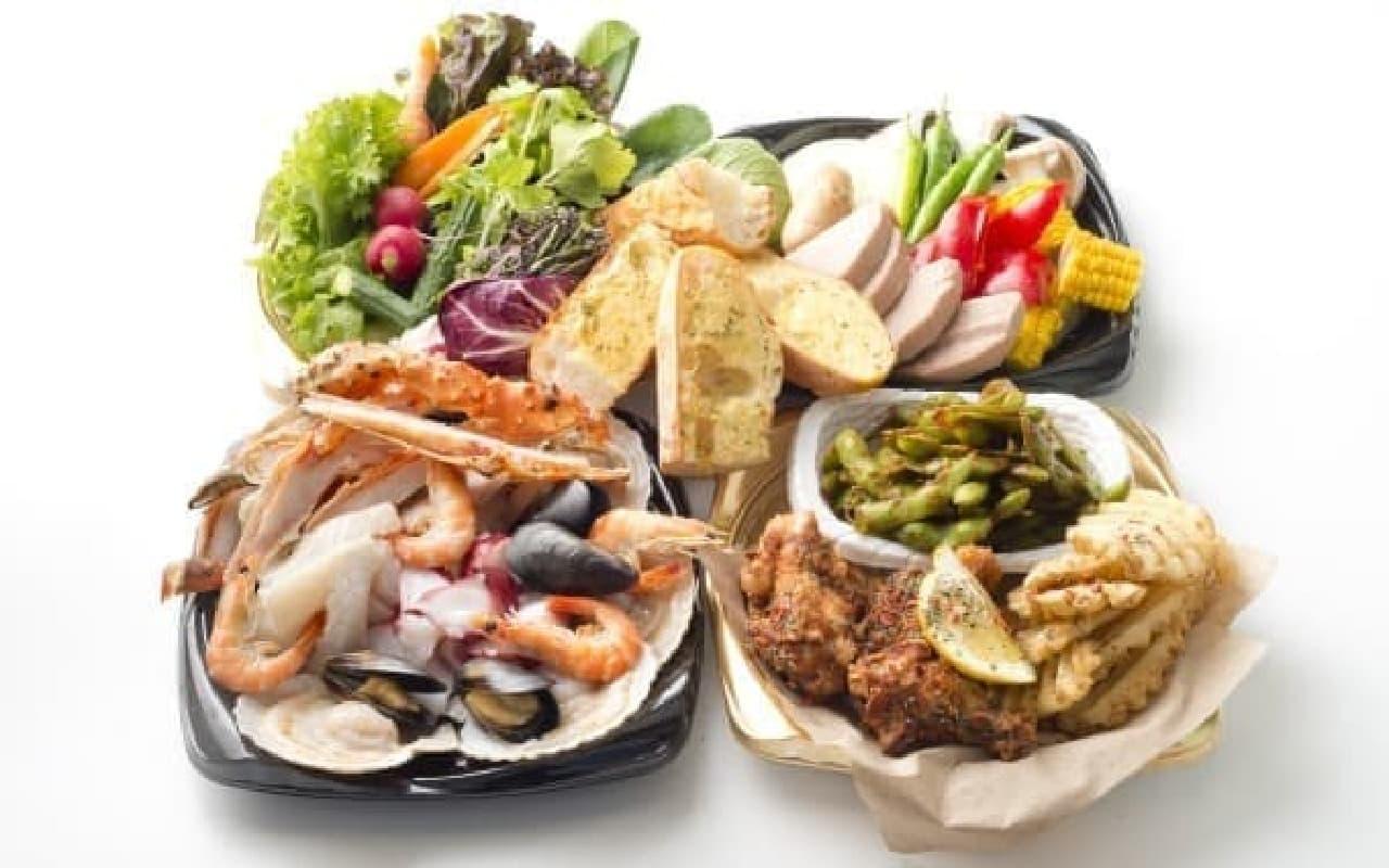ヘルシーなシーフードを中心に、ボリューム満点の料理を提供(写真はイメージ)