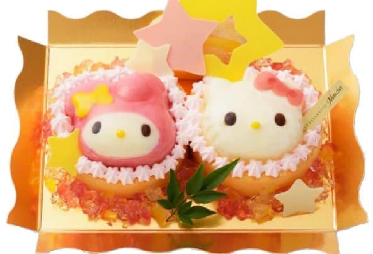 キティ&マイメロの七夕限定ケーキ登場!  (c)1976, 2015 SANRIO CO.,LTD. APPROVAL NO. S561437