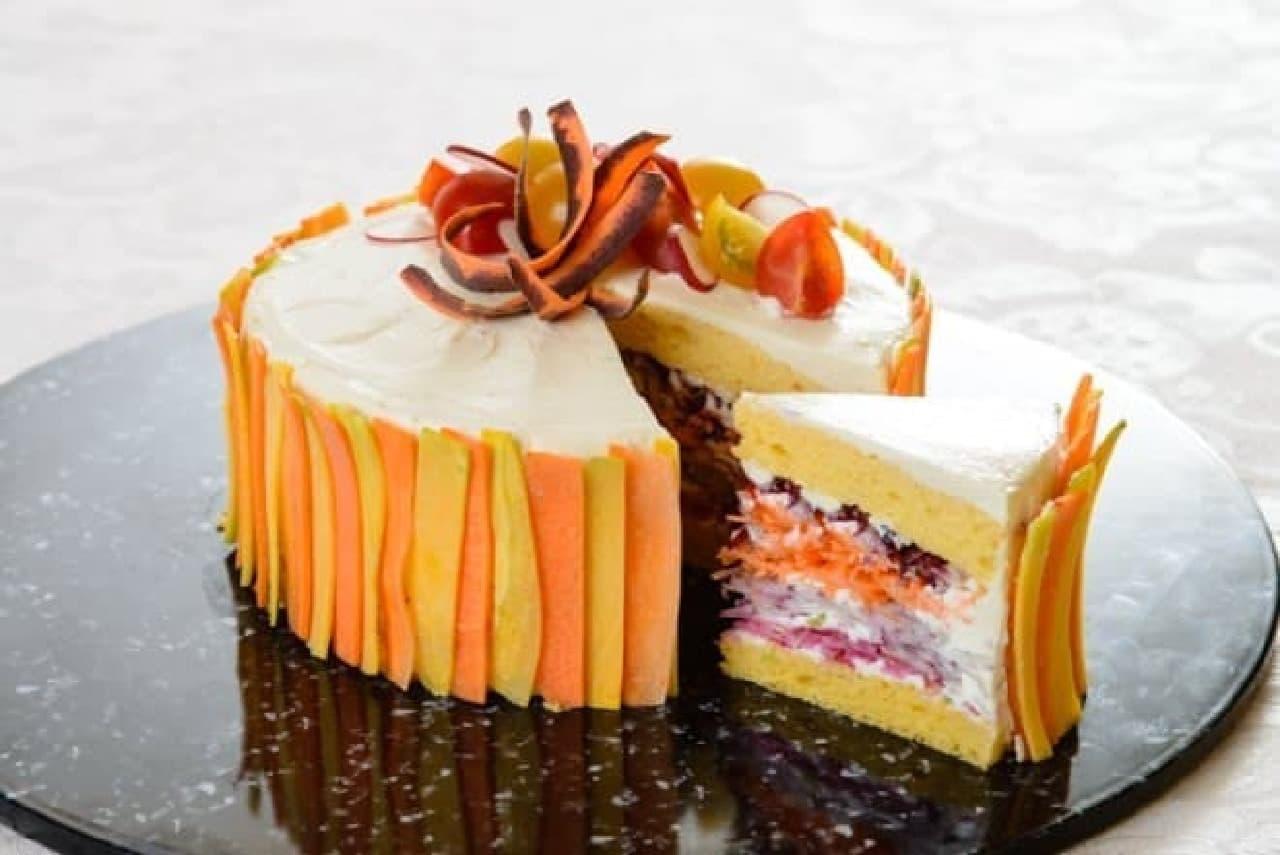 ショートケーキみたいに華やかな「ベジデコサラダ」