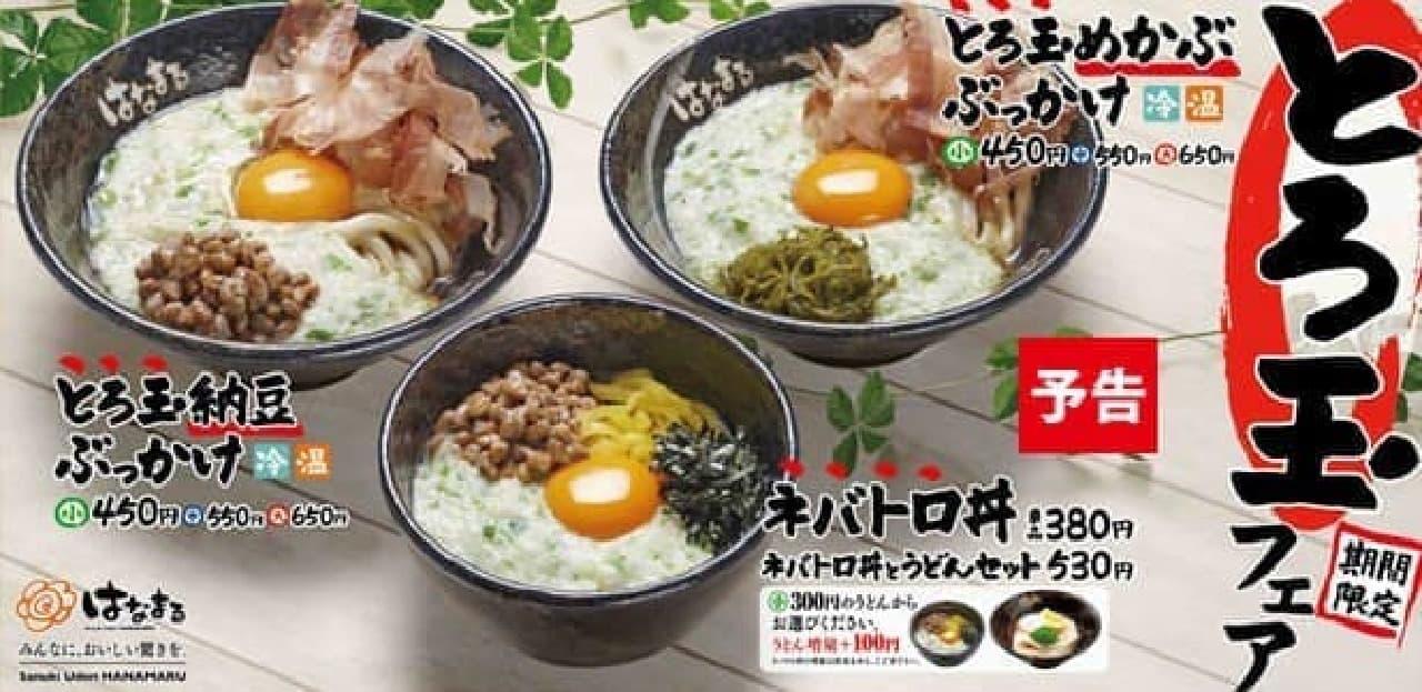 """とろろ&生卵の""""とろ玉""""メニュー3種が登場"""