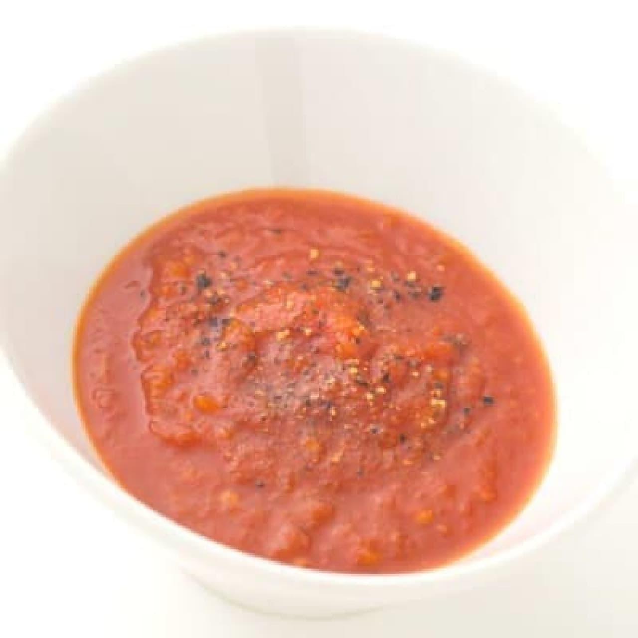 さっぱりトマトポン酢につけて